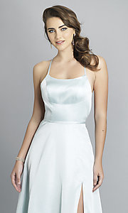 Image of long backless prom dress by Dave and Johnny. Style: DJ-A7956 Detail Image 6