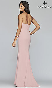 Image of long sleeveless sweetheart prom dress by Faviana. Style: FA-S10284 Back Image