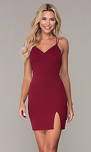 Image of short fitted jersey holiday dress by Simply. Style: MCR-SD-2541 Back Image