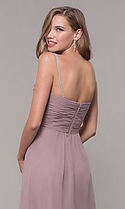 Image of long chiffon formal prom dress with beaded straps. Style: FB-GL2666 Detail Image 2