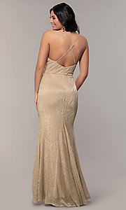 Image of long v-neck prom dress by Simply. Style: MCR-SD-2645 Detail Image 5