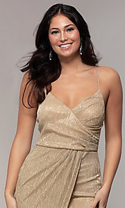 Image of long v-neck prom dress by Simply. Style: MCR-SD-2645 Detail Image 6