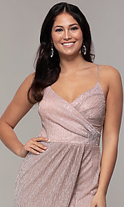 Image of long v-neck prom dress by Simply. Style: MCR-SD-2645 Detail Image 1