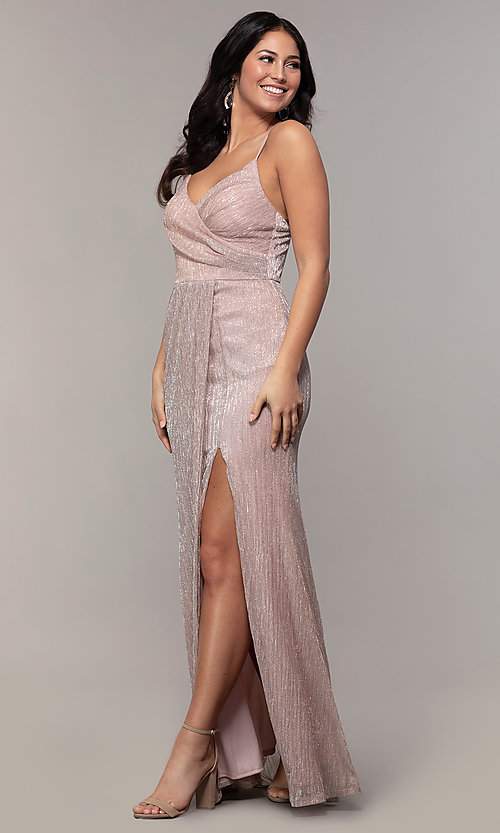 Image of long v-neck prom dress by Simply. Style: MCR-SD-2645 Front Image