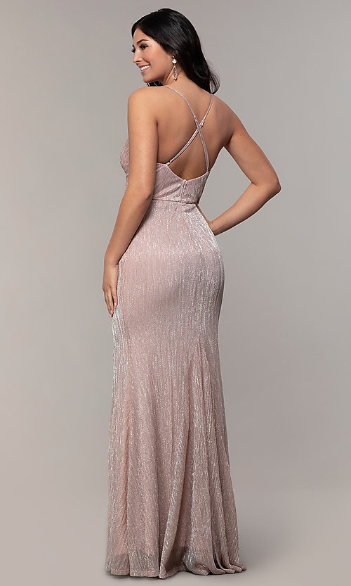 Image of long v-neck prom dress by Simply. Style: MCR-SD-2645 Back Image