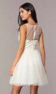 Image of short tulle a-line semi-formal party dress. Style: LP-25459 Back Image