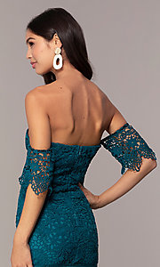 Image of short-sleeve graduation dress by Simply. Style: MT-SD-9575 Detail Image 2