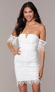 Image of short-sleeve graduation dress by Simply. Style: MT-SD-9575 Detail Image 4