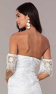 Image of short-sleeve graduation dress by Simply. Style: MT-SD-9575 Detail Image 7