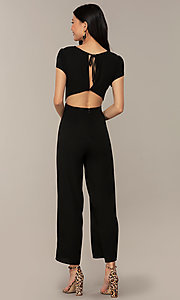 Image of wedding-guest short-sleeve party jumpsuit.  Style: VE-894-773514 Detail Image 5