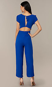 Image of wedding-guest short-sleeve party jumpsuit.  Style: VE-894-773514 Back Image