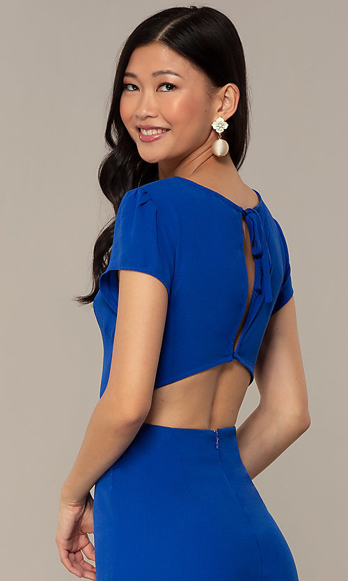 Image of wedding-guest short-sleeve party jumpsuit.  Style: VE-894-773514 Detail Image 2