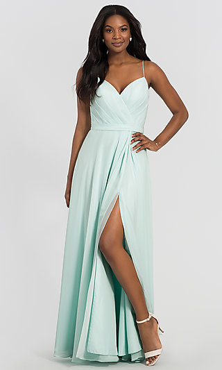 Kleinfeld Long Chiffon Bridesmaid Dress