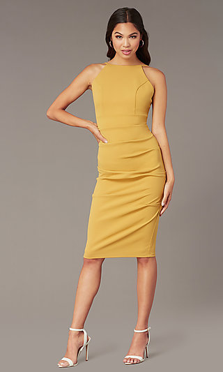 Knee-Length Wedding-Guest Sheath Dress