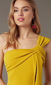 Image of one-shoulder cropped-leg party jumpsuit. Style: SY-IB-1462AP Detail Image 1
