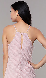 Image of short shift mauve pink graduation party dress. Style: FAN-EKD2133M Detail Image 2