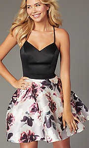 Image of short sweetheart homecoming party dress with pockets. Style: CT-5752QA8DT3 Detail Image 1