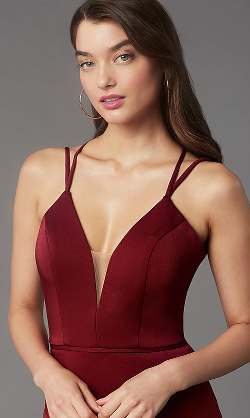 Image of fitted homecoming dress with lace-up back.  Style: FA-S10358 Detail Image 5