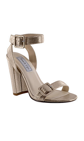 Calista Metallic Nude Sandal by Touch Ups