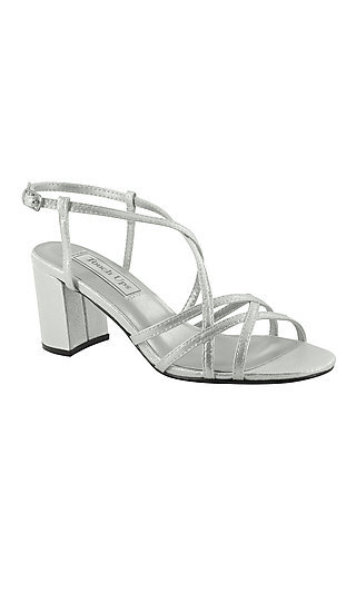 Silver Eva Open-Toe Sandal by Touch Ups