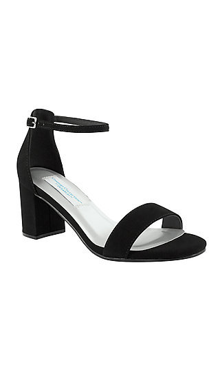 Black Faux Suede January Sandal