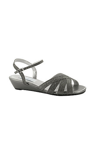 Emma Pewter Silver Wedge Sandal