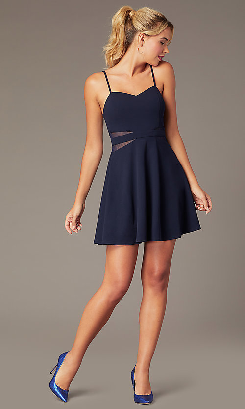 Image of short sweetheart homecoming dress by PromGirl. Style: MCR-PL-2840 Front Image