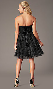 Image of sparkly short homecoming dress in glitter mesh. Style: FB-GS2868 Back Image