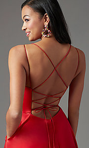Image of PromGirl long formal prom dress with corset back. Style: PG-B2001 Detail Image 1