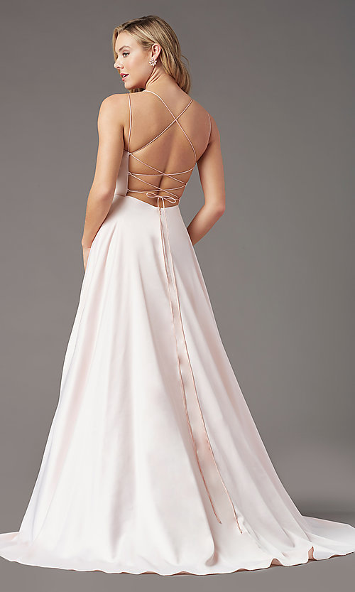 Image of PromGirl long formal prom dress with corset back. Style: PG-B2001 Detail Image 4
