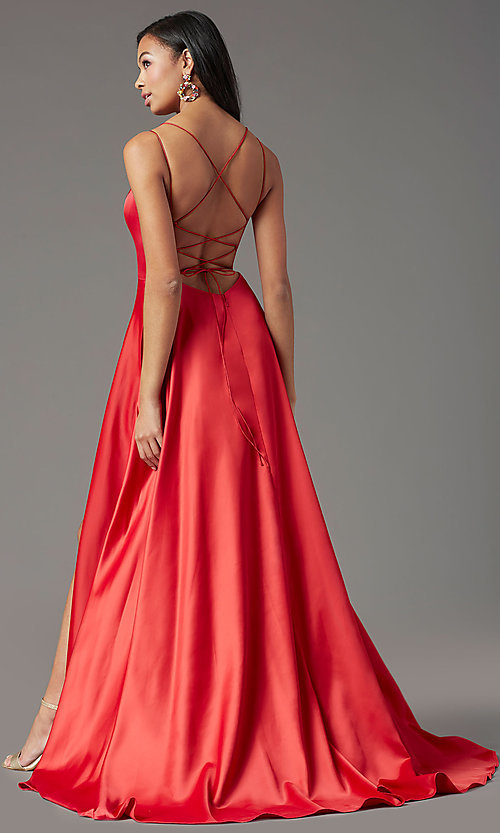 Image of PromGirl long formal prom dress with corset back. Style: PG-B2001 Back Image