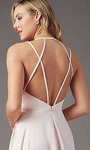 Image of strappy-back long formal prom dress by PromGirl. Style: PG-B2008 Detail Image 5