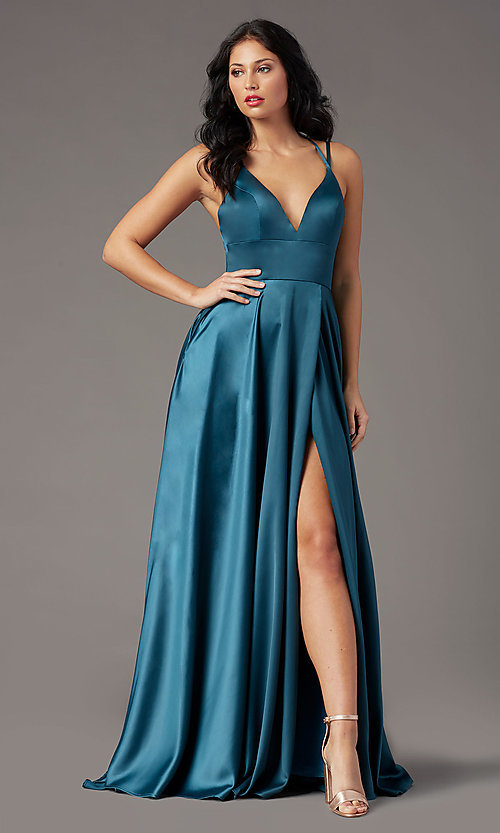 Image of strappy-back long formal prom dress by PromGirl. Style: PG-B2008 Detail Image 8