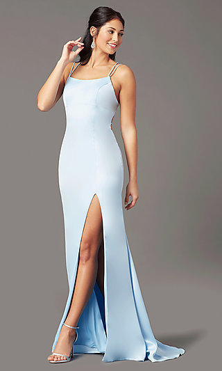 Long Sheath Prom Dress by PromGirl