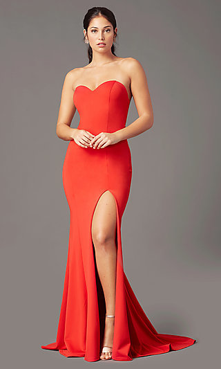 Strapless Sweetheart Long Prom Dress by PromGirl