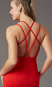 Image of multi-strap open-back long prom dress by PromGirl. Style: PG-B2034 Detail Image 6