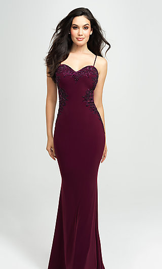 Sweetheart Long Prom Dress with Beading