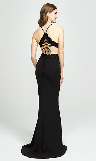 High-Neck Long Formal Prom Dress by Madison James