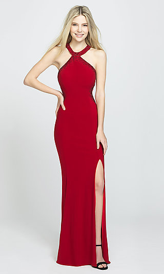 Long Racerback Prom Dress by Madison James