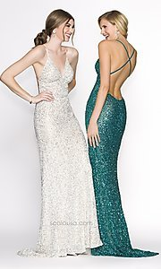 Long Prom Dress Style: Scala-47551 Detail Image 2