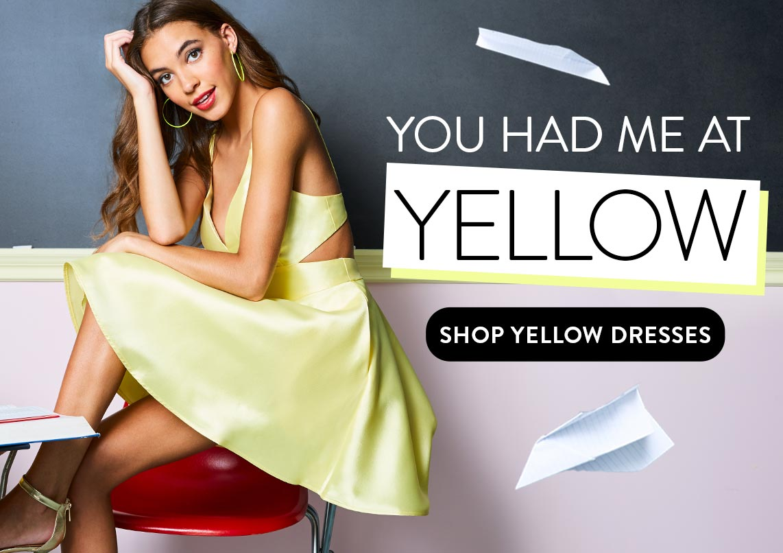 Shop Yellow Dresses
