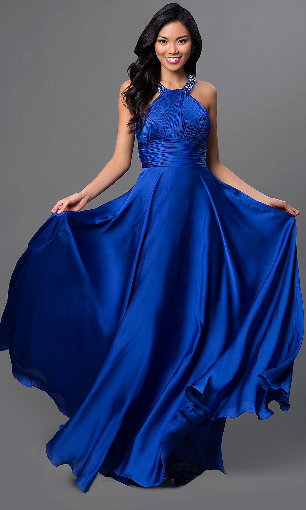 High Neck Long Halter Dress, Halter Gowns - PromGirl