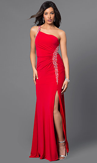 One Shoulder Prom Dresses Formal Gowns