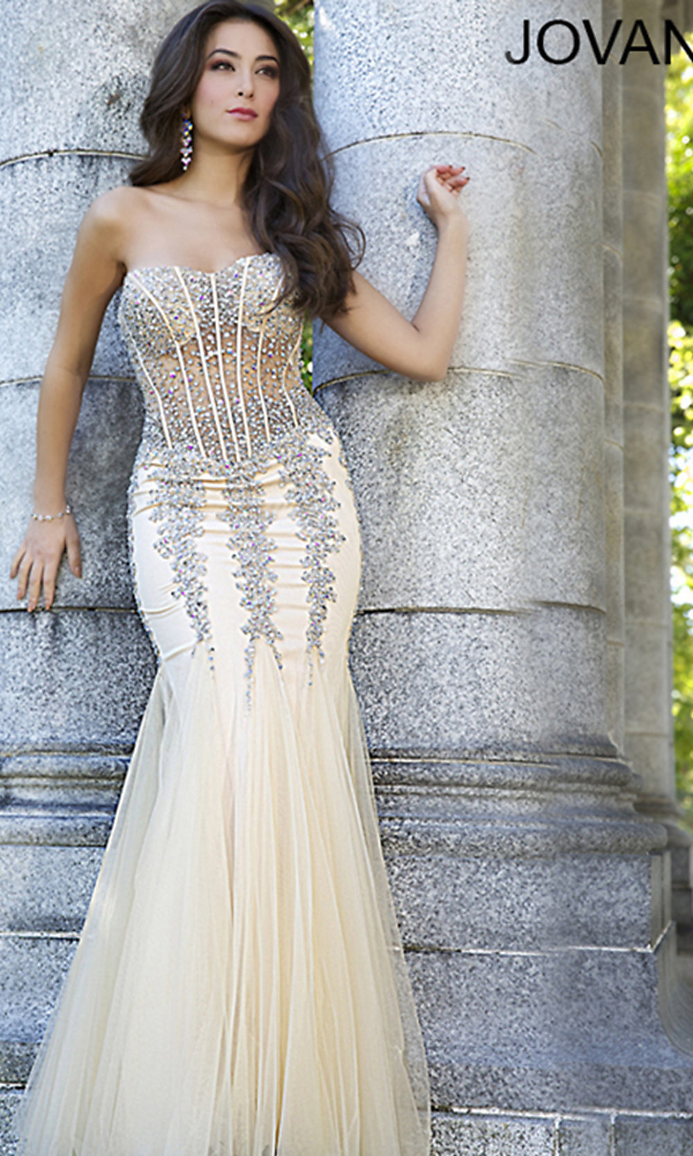 Strapless Sweetheart Jovani Prom Dress- PromGirl