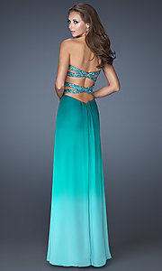 Long Prom Dress Style: LF-18525 Back Image