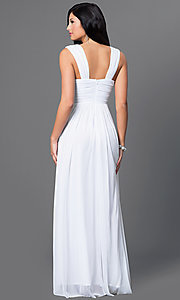 Image of floor length sleeveless ruched bodice dress Style: SI-11341 Back Image