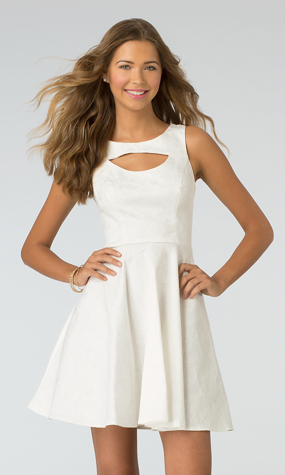 White short dresses for juniors