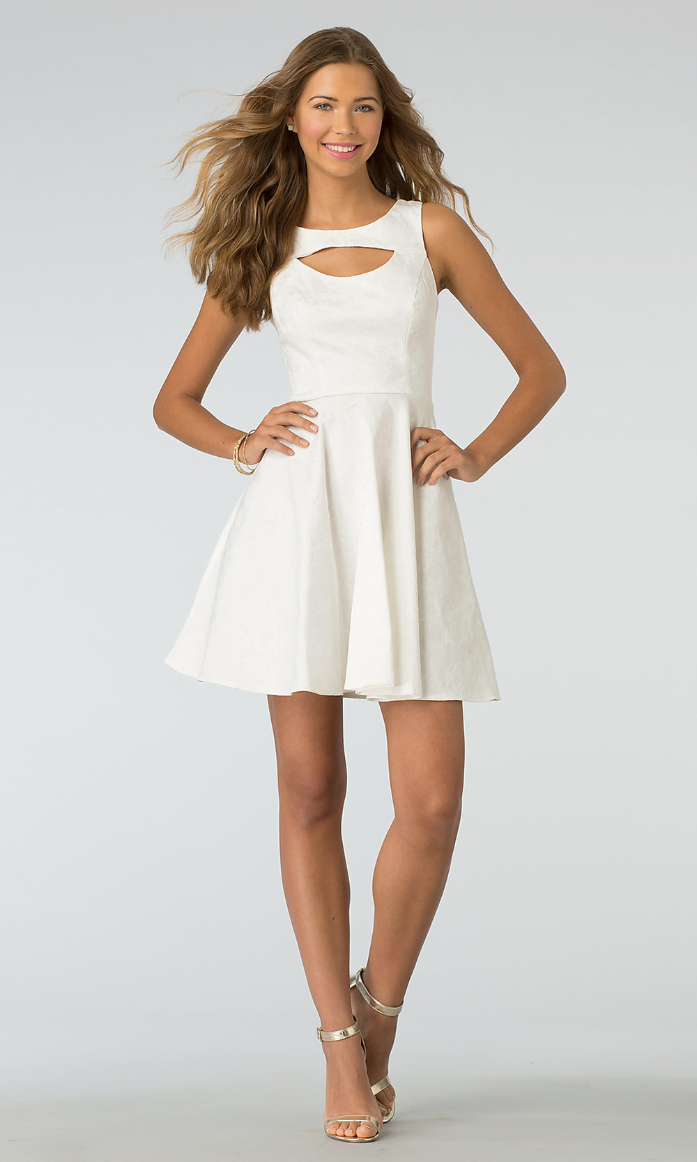XOXO High Neck, Short Graduation Party Dress - PromGirl