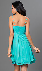 Image of short spaghetti-strap dress by Sally Fashion Style: SF-8736 Back Image