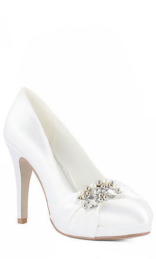 Josie Closed Toe White 3